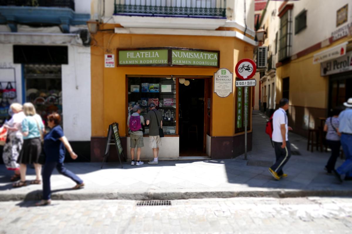 filatelia numismatica carmen rodriguez calle hernando colon sevilla