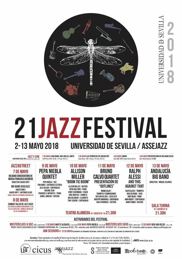 cartel festival de jazz universidad sevilla