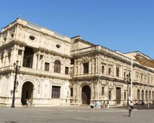 Fachada plateresca del Ayuntamiento de Sevilla