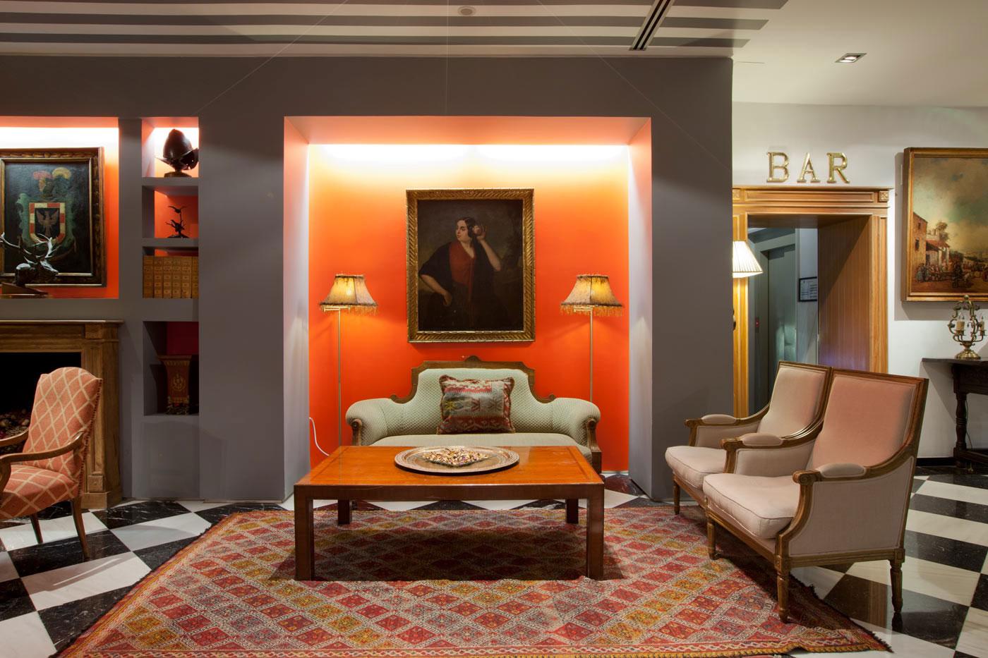 Lobby del Hotel Doña María