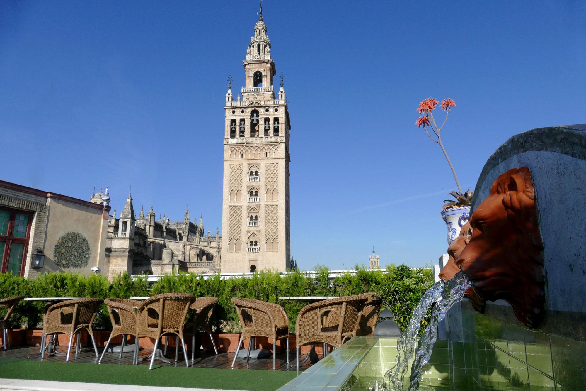 Terraza Giralda Hotel Dona Maria Sevilla City Centre