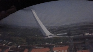 Vistas de Sevilla desde la cámara oscura de la Torre de los Perdigones (foto: Consorcio de Turismo)