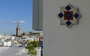 Terraza del Hotel Becquer, en Sevilla.