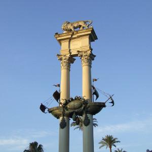 monumento colon jardines murillo sevilla