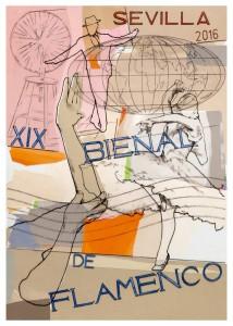cartel ricardo cadenas bienal flamenco sevilla