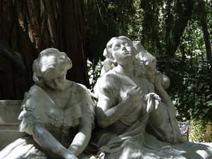Los tres estados amor Glorieta Becquer Parque Maria Luisa Sevilla