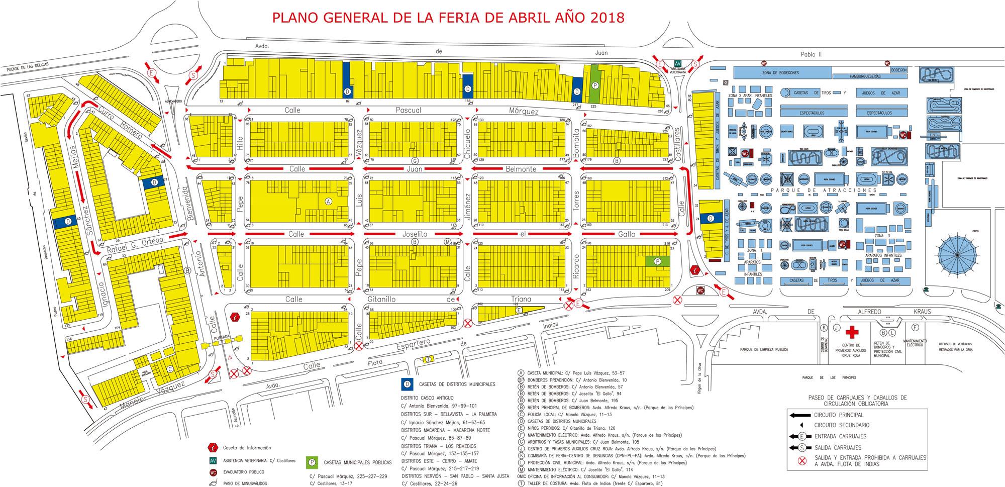 Mapa Feria Sevilla 2019.Mapa Feria Sevilla Detraiteurvannederland