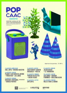 Cartel POP CAAC agosto