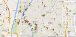 mapa pokemon go sevilla