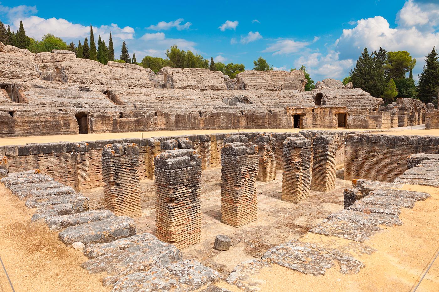 anfiteatro conjunto arqueologico italica santiponce sevilla