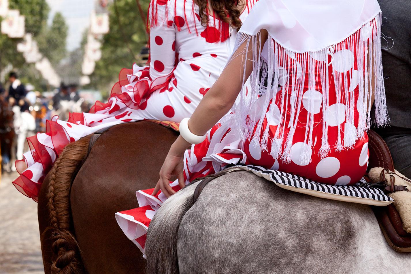 amazonas caballo feria abril sevilla