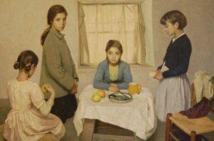 rafael martinez diaz escena familia ninas pobres