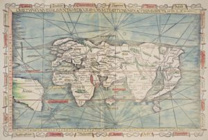 mapa mundo ptolomeo 1522