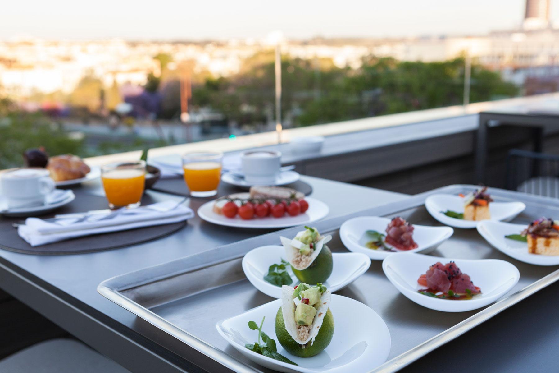 hotel kivir desayuno terraza