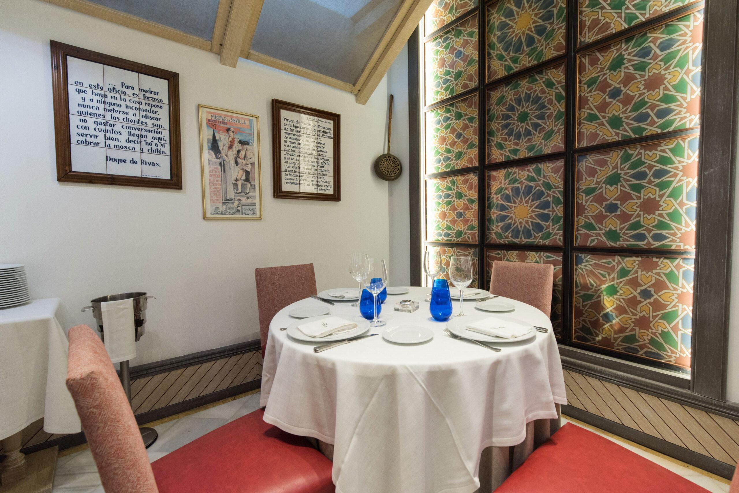 restaurante becerrita sevilla comedor privado